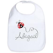 Ladybug Abigail Bib