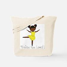 Ballerina Dancer African Tote Bag