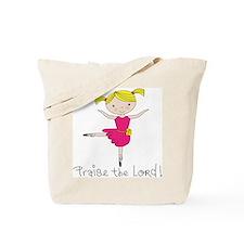 Ballerina Dancer Blonde Tote Bag