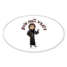 Light Pastor Oval Decal