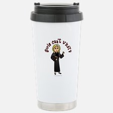 Blonde Pastor Stainless Steel Travel Mug
