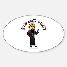 Blonde Pastor Oval Decal