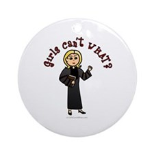 Blonde Pastor Ornament (Round)