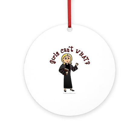 Blonde Pastor Ornament (Round)