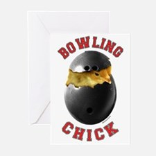 Bowling Chick 2 Greeting Cards (Pk of 20)