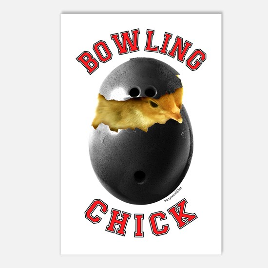 Bowling Chick 2 Postcards (Package of 8)