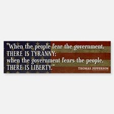Jefferson: Liberty vs. Tyranny Bumper Bumper Sticker