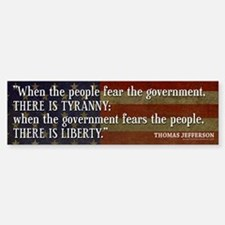 Jefferson: Liberty vs. Tyranny Car Car Sticker