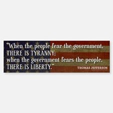 Jefferson: Liberty vs. Tyranny Sticker (Bumper)