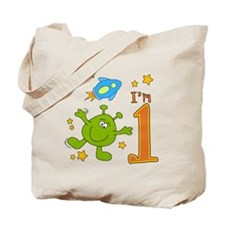 Lil Alien First Birthday Tote Bag