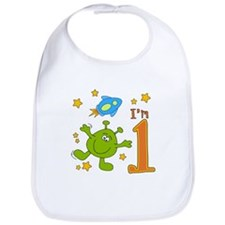 Lil Alien First Birthday Bib