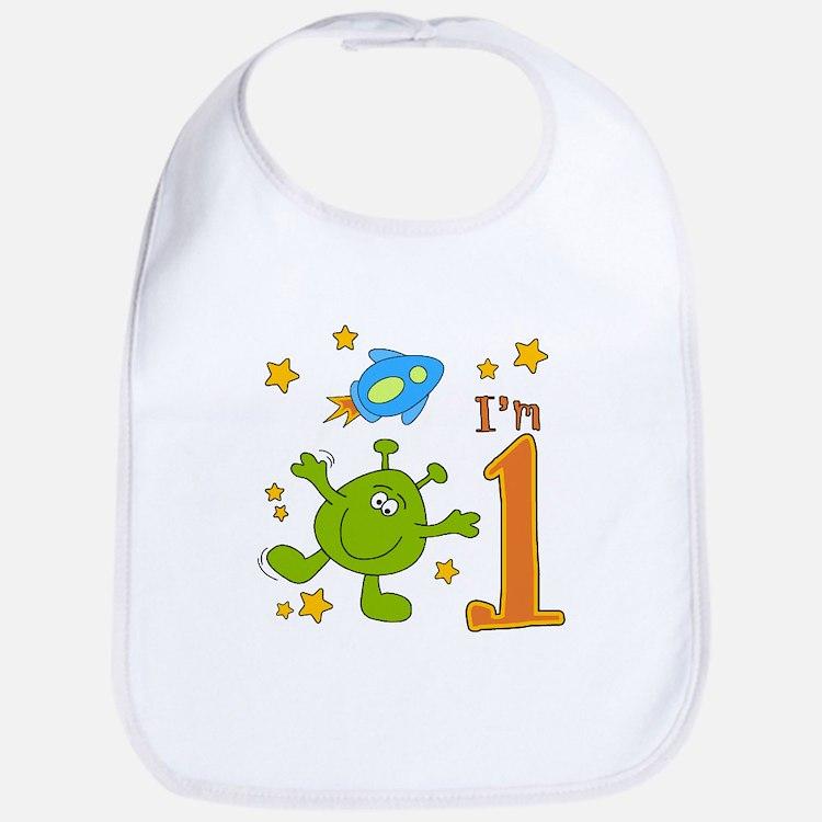 Lil Alien First Birthday Bib