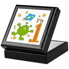 Lil Alien First Birthday Keepsake Box