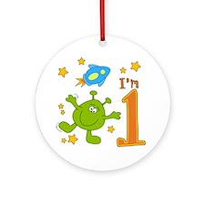 Lil Alien First Birthday Ornament (Round)