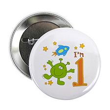 """Lil Alien First Birthday 2.25"""" Button"""