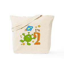 Lil Alien 2nd Birthday Tote Bag