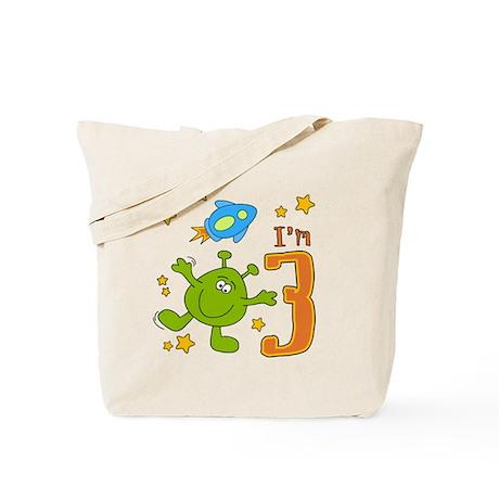 Lil Alien 3rd Birthday Tote Bag