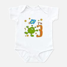 Lil Alien 3rd Birthday Infant Bodysuit
