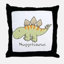 Nuggetsaurus Throw Pillow