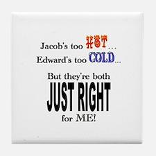 Jacob and Edward for ME Tile Coaster