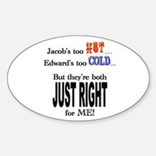 Jacob and Edward for ME Oval Decal
