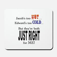 Jacob and Edward for ME Mousepad