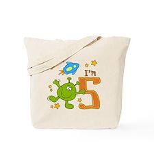 Lil Alien 5th Birthday Tote Bag