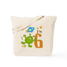 Lil Alien 6th Birthday Tote Bag