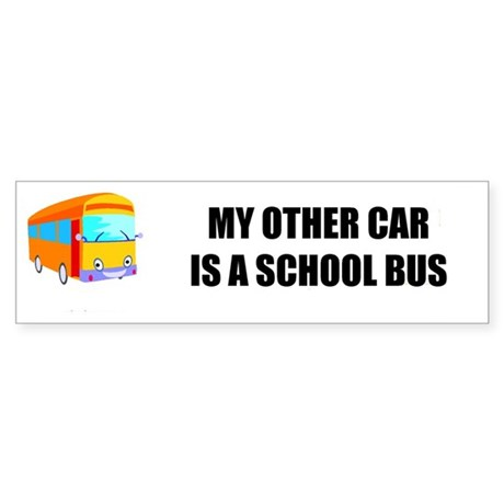 School Bus Bumper Sticker