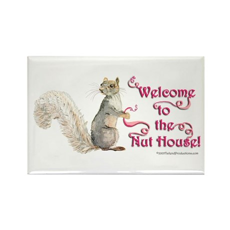 Squirrel Nut House Rectangle Magnet (100 pack)