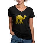Camel Toe Women's V-Neck Dark T-Shirt