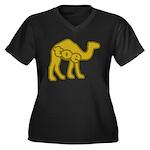 Camel Toe Women's Plus Size V-Neck Dark T-Shirt