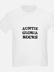 AUNTIE GLORIA ROCKS Kids T-Shirt