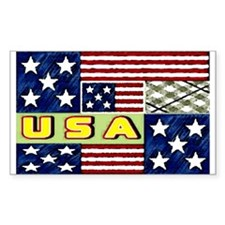 U.S.A. spring quilt Rectangle Decal