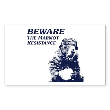 Save The Marmots Rectangle Sticker