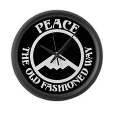 Peace with Stealth Large Wall Clock