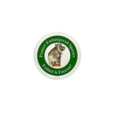 Protect Endangered Species Mini Button (10 pack)