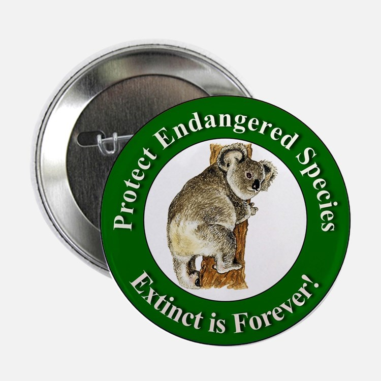 Protect Endangered Species Button