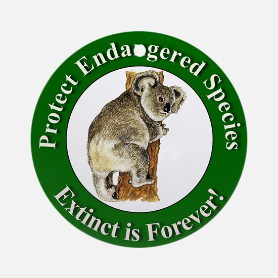 Protect Endangered Species Ornament (Round)