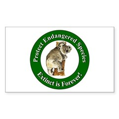 Protect Endangered Species Rectangle Decal