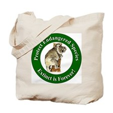 Protect Endangered Species Tote Bag