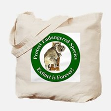 Protect Endangered Species Tote Bag