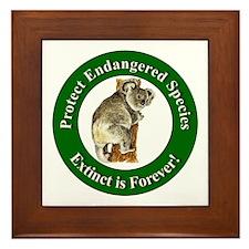 Protect Endangered Species Framed Tile