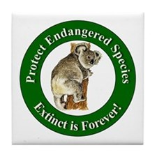 Protect Endangered Species Tile Coaster