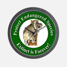 Protect Endangered Species Wall Clock