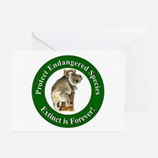 Protect Endangered Species Greeting Cards (Package