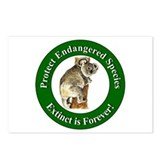 Save endangered animals Postcards