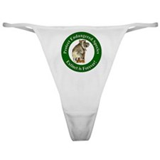 Protect Endangered Species Classic Thong