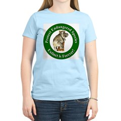 Protect Endangered Species Women's Pink T-Shirt
