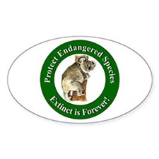 Protect Endangered Species Oval Decal